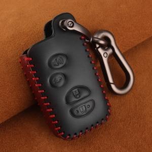 Image 5 - KEYYOU For Toyota Prius Land Cruiser Avalon Prado Leather Car Key Keychain Covers Key Case Bag KeyChain Bag 2/3/4 Buttons