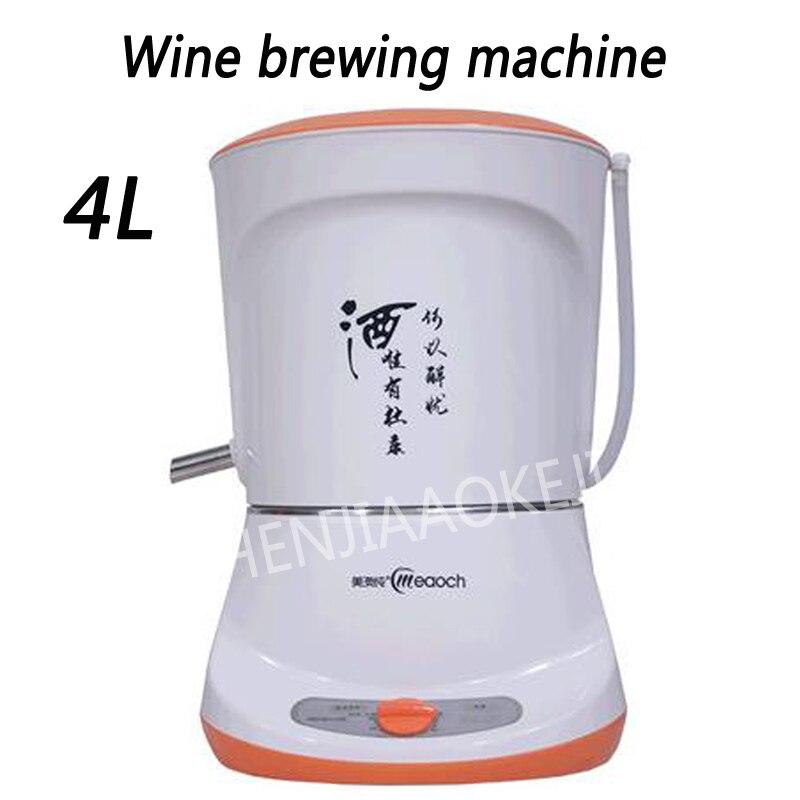 1800 Вт машина минипивзавод 4L автоматического оборудования для виноделия бытовой чистой росы ликер дистиллированной вина Shochu горшок очистки