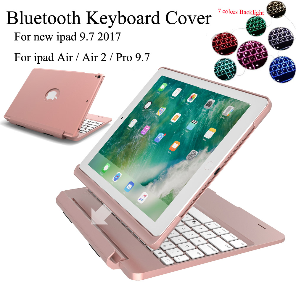 For iPad 9 7 2018 6th iPad 9 7 2017 5th Keyboard Case Backlit Light Wireless