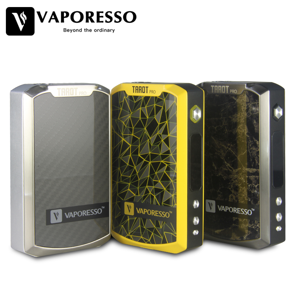 Original Vaporesso TAROT PRO 160W VTC MOD Supports Smart VW/ CCW/ VT/ CCT/ TCR/ Bypass Modes with Upgradable Firmware original vgod pro drip rda for vgod pro mech mod pro 150 box bottom airflow delrin drip tip huge vapor 24mm large build deck