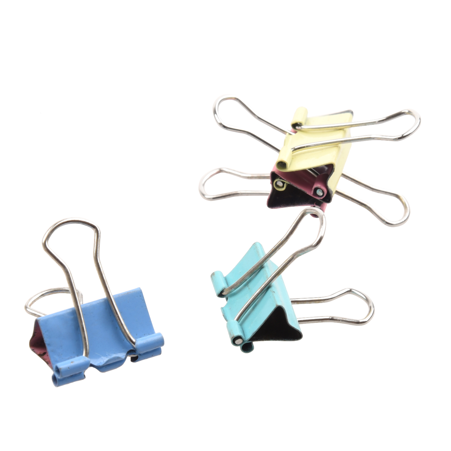 PPYY NEW -40pcs 19mm Colored Binder Clips Home Office School Teacher