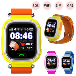 Mode Q90 Kinderen Kids GPS Smartwatch SOS SIM Card WiFi Horloge 2G Smart Horloge