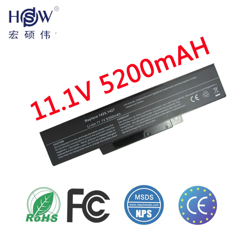HSW Laptop Battery For Dell Inspiron 1425 1426 1427 BATEL80L6 BATEL80L9 BATHL90L6 Battery For Laptop BATCL80L6 BATCL80L9 Battery