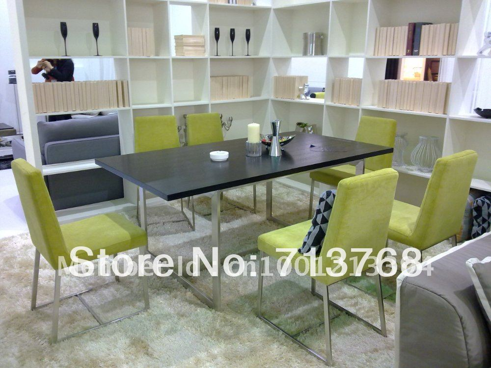modern dining room table sets with 6 chairs mcno002 in dining room rh aliexpress com Dining Table and 6 Chairs Dining Table for 6