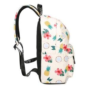 Image 3 - Simple Qualities Comfortable Girl Waterproof Polyester Backpacks Cute Pineapple Printing Female Students Backpack Bag