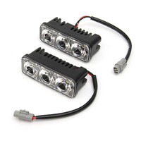2pcs Zinc Alloy 18W Car Auto LED Daytime Running Lights With Lens Waterproof Super White 6000K