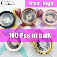 Colash Natural Long False Eyelashes Hot selling 3D real mink eyelashes custom packaging mink fur lashes