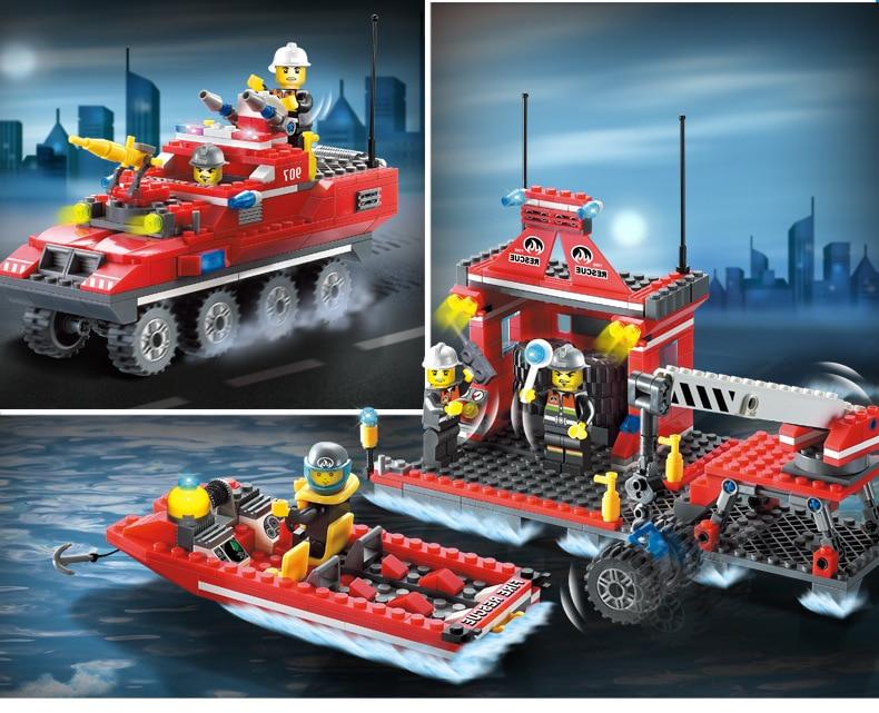 Aliexpress Buy Models Building Toy 907 417pcs Fire Rescue