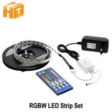 LED Strip 5050 RGBW /RGBWW 5M 300LEDs Indoor Decorations Tape + 44 Key IR Controller  + DC 12V 3A Power Supply