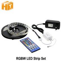 Светодиодные ленты 5050 RGBW/rgbww 5 м 300 светодиодный S Крытый украшения лента + 44 Ключевые ИК-пульт + DC 12 В 3A Питание