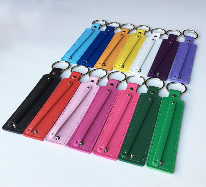 Image 4 - Free Shipping, 50PCS (8 30)Width*130mm Length PU Leather Key  Rings/Key Chains Fit 8mm Slide Charms, 8mm Slide Letters8mm slide  charmscharm charm8mm charm