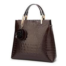 Patent Leather Women's handbags Luxury Designer Alligator women bag Ladies Shoulder Messenger Bags Handbag female Tote Purse цены