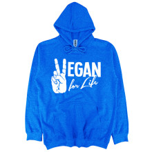Vegan for life hooded sweatshirt