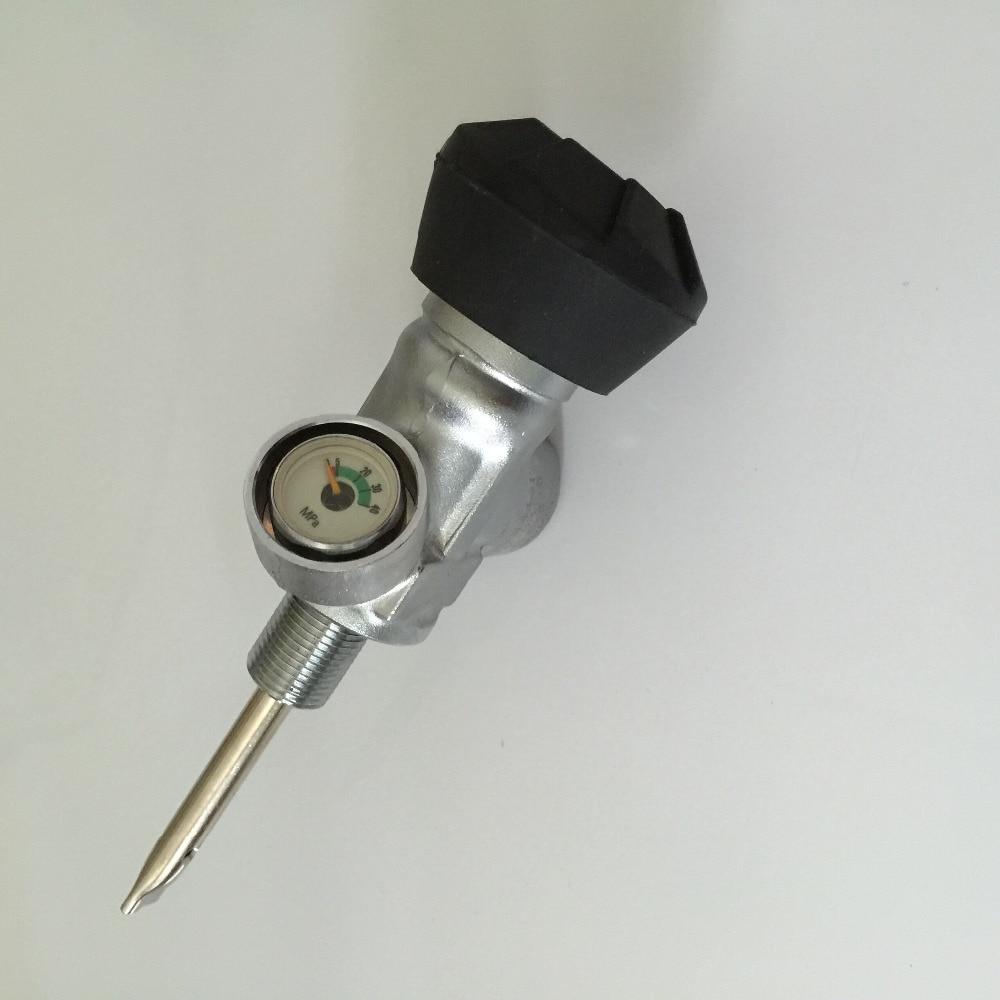 Carbon Fiber Cylinder Valve High Pressure small gauge valve for sale  -V r134a single refrigeration pressure gauge code 1503 including high and low
