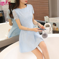 White Color Girl Summer Dress Fashion Beach Holiday Lace Dress Sexy Beach Dress For Party Sexy