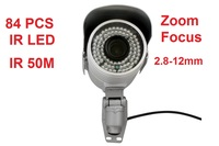 Outdoor Waterproof CCTV Surveillance 2 8 12mm Varifocal Lens Long Distance Ir 50m Bullet IP Camera