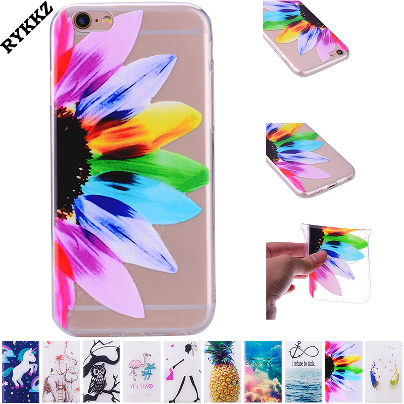 2018 hot TPU phone case for Apple iphone 5 5S SE soft silicone phone bag for iphone5 transparent patterned case