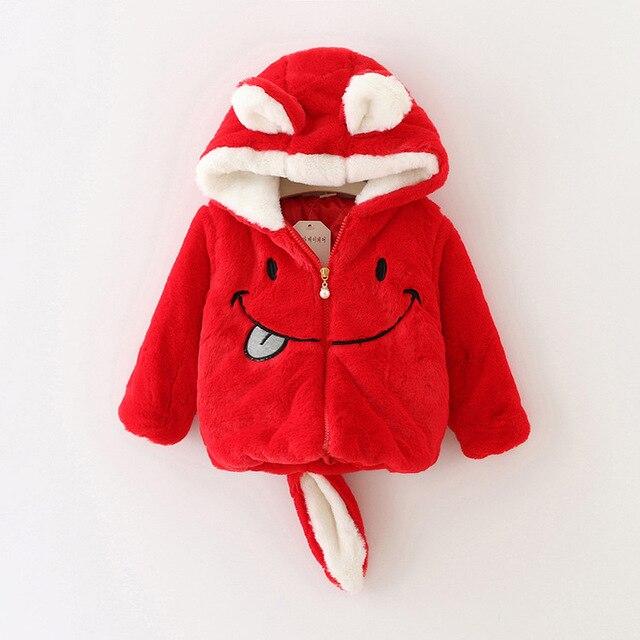 heat! 2016 new baby coat girl cartoon velvet thickening children's cotton-padded cartoon cute girl winter coat free shipping