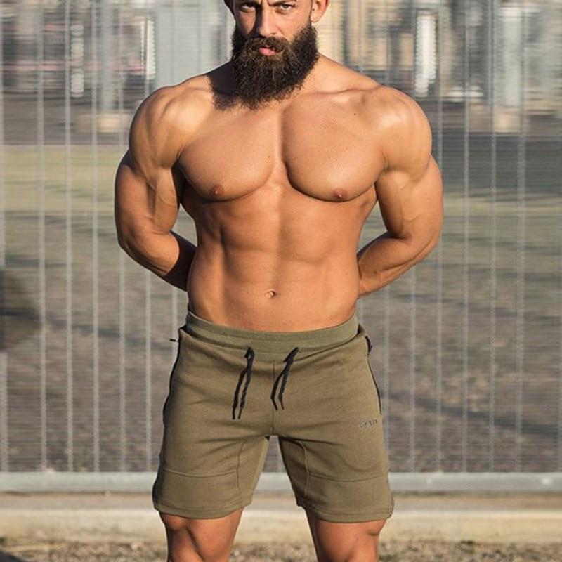 Mens-Gym-Fitness-cotton-shorts-Run-jogging-sports-bodybuilding-Calf-Length-training-Sweatpants-2018-New-male (1)