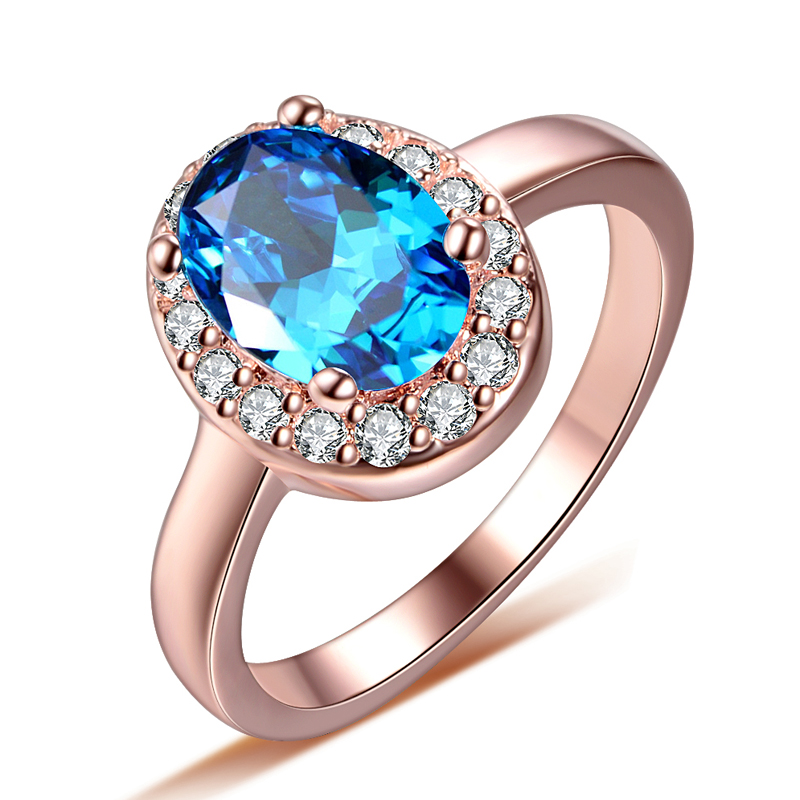 Blue Cz Zircon Stone 925...