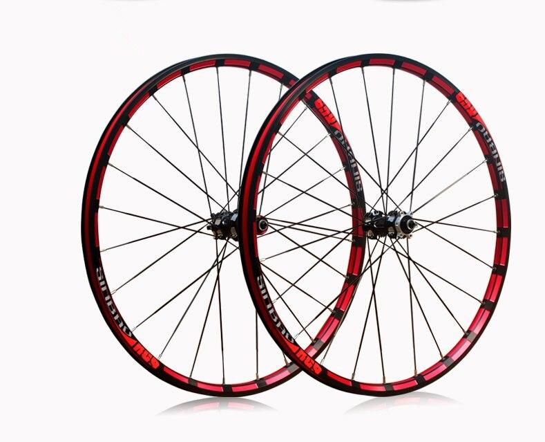 MTB Mountain bike 26 polegada Moagem trilateral rodado bicicleta 5 Rolamento roda freio a disco hub puxar em linha reta