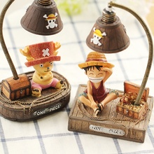 ONE PIECE Luffy Joba LED Ornament Light Zakka Style Cartoon Characters Maritime King Night Light Resin Decoration Crafts(China)