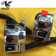 Headlight Motorcycle-Switch Motorbike-Control Turn-Signal-Light Chrome Power-Horn Multifunction