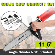 Upgrade Electric Saw Parts 11.5 Inch M10/M14/M16 Chainsaw Bracket Changed 100 125 150 Angle Grinder Into Chain Saw цена