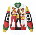 2 Colors Real USA Size Custom Made 8 Ball x Salt N Pepa (Colored ,white Assembles) 3D Sublimation Print Zipper Up Jacket