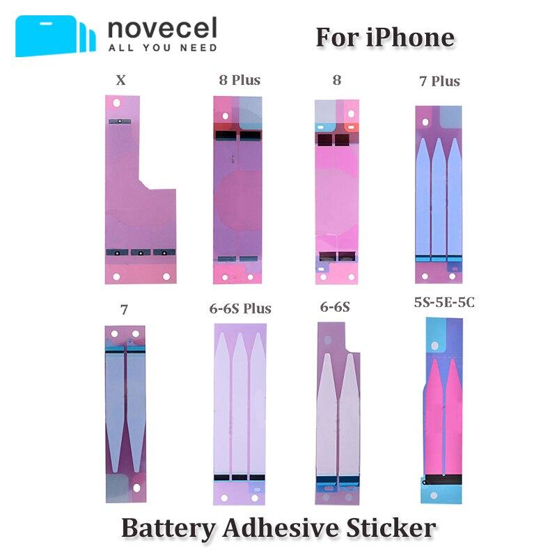 10 шт. Novecel оригинальный Батарея клей Стикеры для <font><b>iPhone</b></font> X 5S 5c <font><b>6</b></font> 6s 7 8 плюс Батарея клей лента газа Tab заменяемой