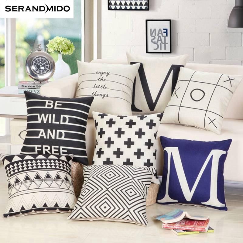 weiß dekorative kissen-kaufen billigweiß dekorative ... - Schwarz Wei Sofa