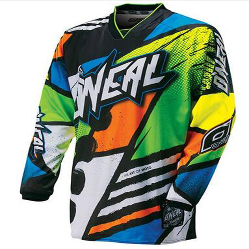 2017 Quick dry 2017 FURY Moto MX bike Bike Motocross Jersey BMX DH MTB T Shirt Clothes Long Sleeve MTB Breathable Quick Drying