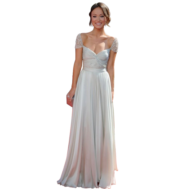 Sweetheart Chiffon Red Carpet Dress