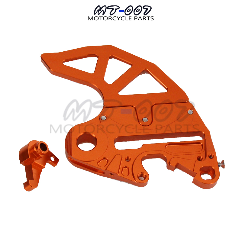 CNC Billet Rear Brake Disc Guard Brake Disc Adaptor Caliper Bracket for KTM SX SXF XC XCW XCF EXC EXCF EXCR 125-530 Motorcycle