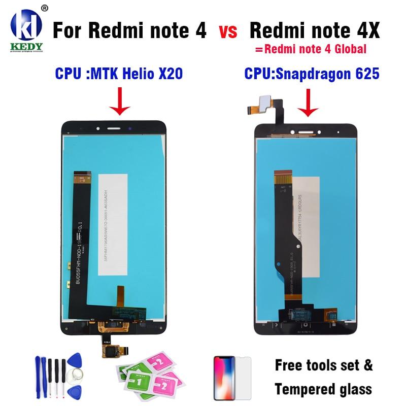 LCD Display Touchscreen Digitizer Assembly Für Xiaomi Redmi Hinweis 4 Hinweis 4X MTK Helio X20 version globale version