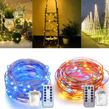 Fairy-Lights Battery-Operated Remote-Control-Timer Twinkle-String 10m 5m 8-Modes