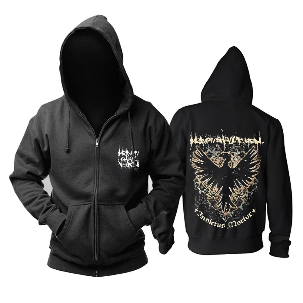 Bloodhoof darmowa wysyłka niebo palić będzie Omen męskie metalowe śmierci bawełna nowa bluza z kapturem rozmiar azjatycki w Bluzy z kapturem i bluzy od Odzież męska na  Grupa 1