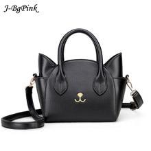 Womens Hand Bags Small Cute Cat Messenger Bag Luxury Handbags Women Leather Bags Ladies Black Famous Brands Designer Pink Bag