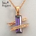 A1-p357 italina rigant moda simulado collar de piedras preciosas colgante 18kgp cz joyas de cristal