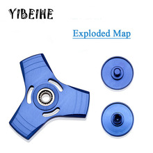 2017 New 5 Color Box Aluminum Alloy Tri-Spinner Fidget Toy EDC Hand Spinner For Autism and ADHD Metal Handspinner Best Gift