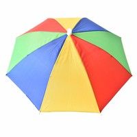 1 шт. 3 тип 21 дюймов регулируемое оголовье носить шляпу зонтик многоцветный открытый спорт складной нейлон рыбалка зонт шляпа кепки