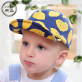 2017 New Fruit Lemon Peach Printing cap Fashion Soft Baseball hat Brand Snapback for 1-3Yrs Boys Girls Kids