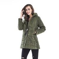 New Winter Women Warm Hooded Long Coat Jacket Fashion Cool Parka Outwear Top