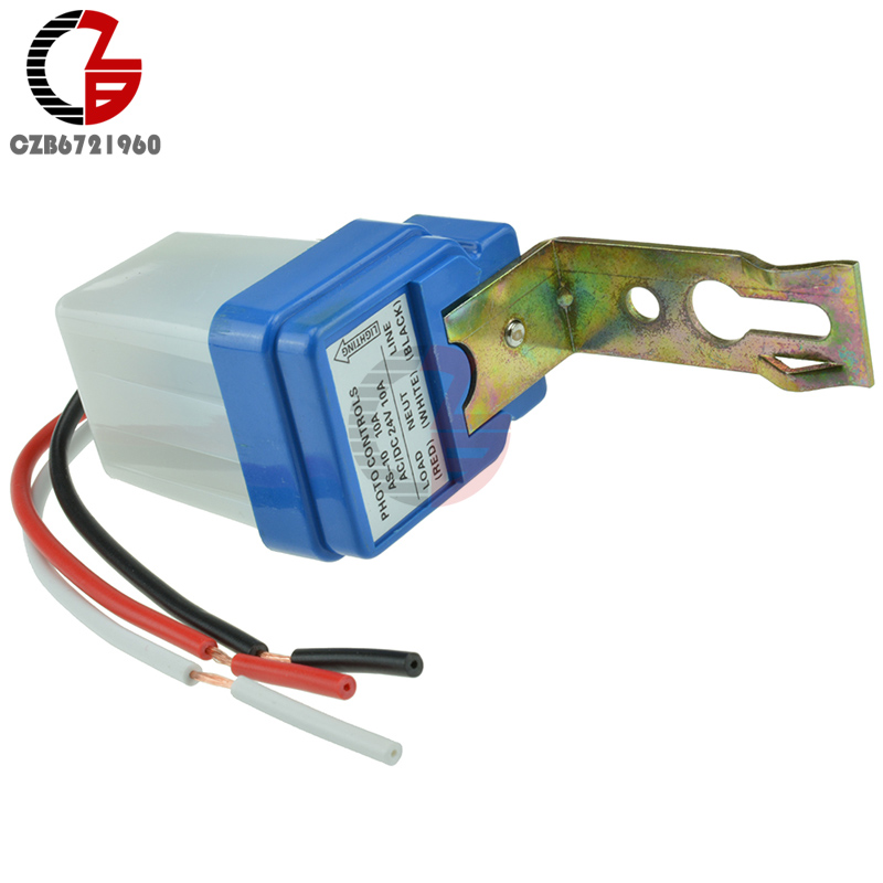 1PCS AS-10 Auto On Off Street Light Switch Photo Control Sensor 12V 10A 50-60Hz