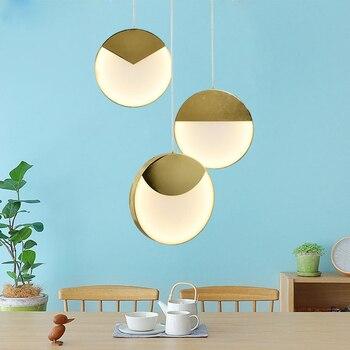 Postmodern Loft Creative Geometry LED Pendant light Art Round Dinner Room Bar Single Hanging Lights Led Bar Lamps Free Shipping