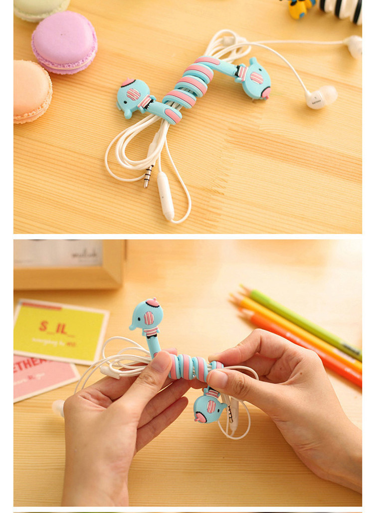 Cartoon Earphone Cable Winder Protector Wire Cord Organizer protetor de cabo for iPhone 5 5s 6 6s 7 plus Computer PC cable clip