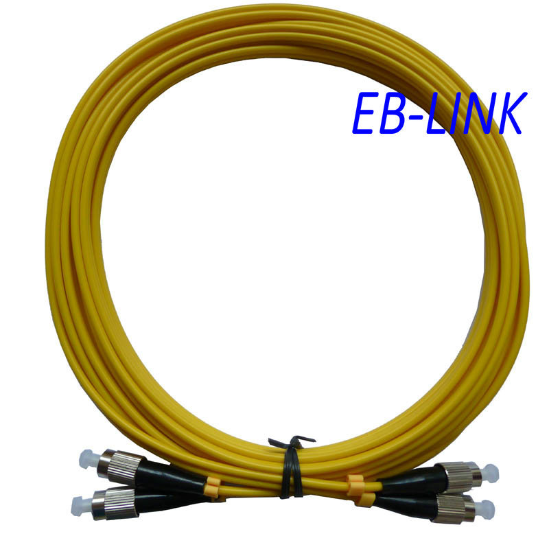 Оптическое волокно патч-корд кабель, FC / PC-FC / pc, 3.0 мм, одномодовый 9/125, дуплекс, фк чтобы фк 100 м