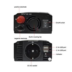 Image 4 - AOSHIKE Dual USB 4.2A inverter 12v 220v 300W 500W EU Car Power Inverter 12V to 220V Auto Voltage Transformer Car Adapter