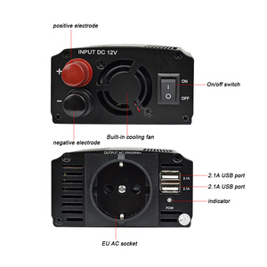 Image 4 - Aoshike Dual USB 4.2A INVERTER 12V 220V 300W 500W EU Xe Điện Inverter 12V 220V Tự Động Biến Đổi Điện Áp Xe Adapter