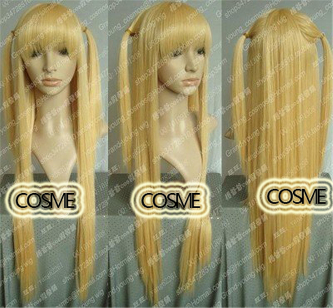 DEATH NOTE Misa Amane 75cm Long Straight Full Party Customs Cosplay wig
